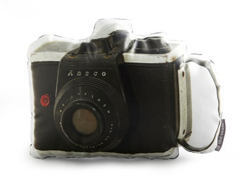 Vintage Ansco Camera Printed Pillow