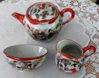 Vintage Children's Tea Set  Geisha  Japan
