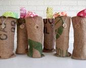 Colorful Bridal Shower Favors - Burlap Wine Bags - Bridesmaid Gifts