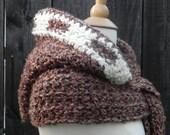 Crochet Pattern Hooded Scarf Hat Hoodie Scoodie