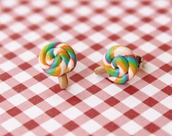 Fun Food Earrings... Bright Colored Lollipops