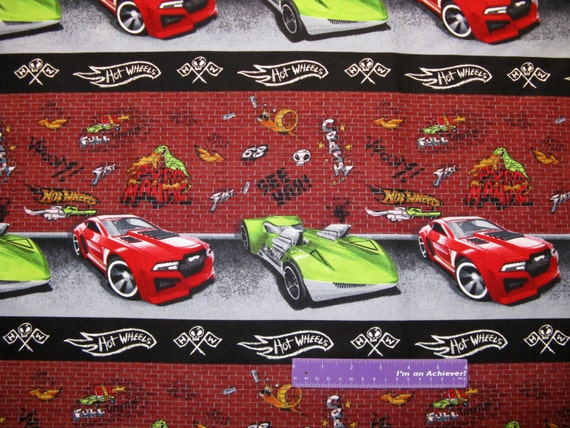 mattel hot wheels car graffiti pyro maniac stripe cotton. Black Bedroom Furniture Sets. Home Design Ideas