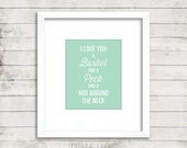 I Love You a Bushel and a Peck Instant Download Print
