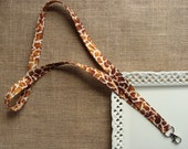Fabric Lanyard - Brown Giraffe