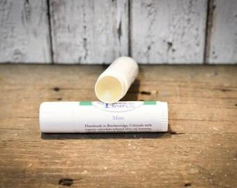 Organic Mint Lip Balm, Large .5 oz Size