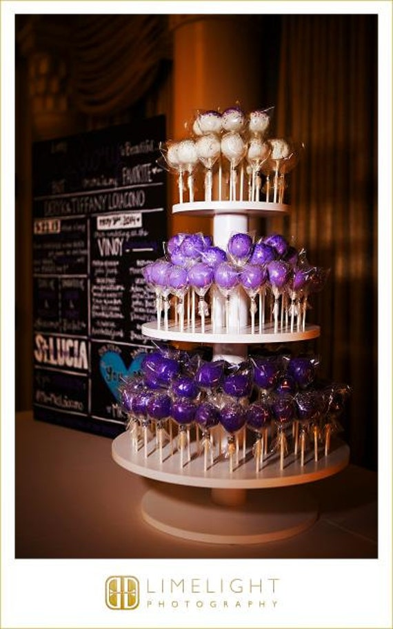 3 Tier Round Custom Made Cake Pop Stand Holds 106 Cake Pops