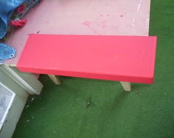 24 inch red floating shelf
