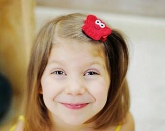 Red Crab Felt Hair Clip Lobster Feltie
