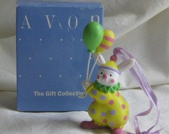 Easter Bunny Clown Ornament Balloon Bouquet By Avon