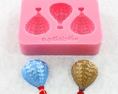 Hot Air Balloon Mold Mould Fondant Resin Wax Mod Podge Candy (352)