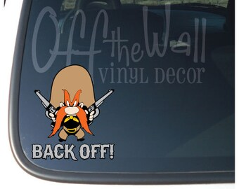 Tweety Bird Back Off Vinyl Car Decal By Offthewallvinyldecor