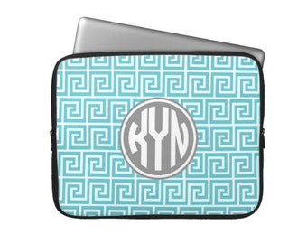 Personalized Laptop Sleeve, iPad or Kindle Tablet Case - Monogram Laptop Case-Monogram MacBook - Choose Colors