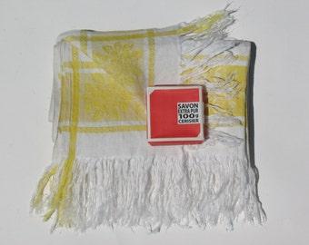 Vintage Linen Kitchen Towel - French Country - Linen/Hemp Torchon - Guest Towels