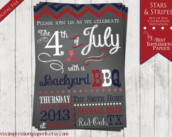 Stars and Stripes - A Customizable 4th of July Party Invitation