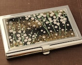 Blossoms at Midnight.  Business card case