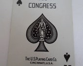 Vintage Congress Playing Cards with Mountain Scene with Lake and Pines