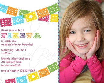 Fiesta Birthday Invitation, Fiesta Birthday Invitation- Custom Printable