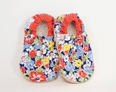 Flower Patch Bison Booties Size 6 to 12 Months Ready to Ship baby shoes