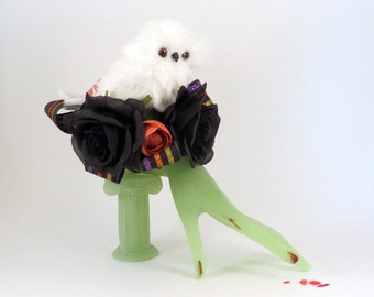 Owl Corsage for Halloween