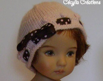154. French and english knitting pattern PDF - Waistcoat and hat for Little Darling doll 13''