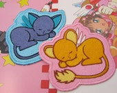 Cardcaptor Anime Mascots  1 Machine Embroidered Iron on OR Sew on Patch