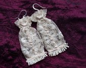 1920 Cream Lace Bohemian Earrings