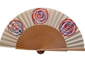 Take away the art for a walk - Spanish Fan - OOAK - Gifts for her and for him - Limited Edition Spanish Fan. Hand painted. Colors