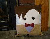 11th Doctor, Matt Smith pillow, plush, cushion