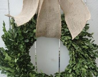 Dried Boxwood  Green Wreath   Indoor Wreath   Boxwood Wreath  Saint Patrick's Day Wreath Wedding Wreath  Home Decor