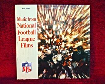 Music from NATIONAL FOOTBaLL LEAGUE FILms - Volume I - 1970s Vintage Vinyl Record Album