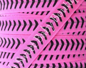Fold Over Elastic 5 Yards Baseball Softball Neon Pink