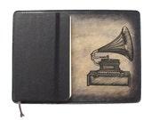 Moleskine Leather Notebook Cover [Large & Pocket Sizes][Customizable][Free Personalization] - Gramaphone