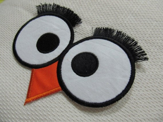 Owl Eyes And Fluffy Lashes Machine Applique Embroidery