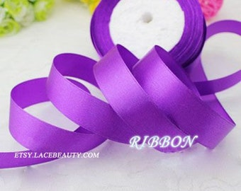 Purple Ribbon Terylen Lace Trim 0.78 Inch Wide 22 meters