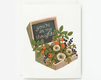You're in My Thoughts Card 1pc
