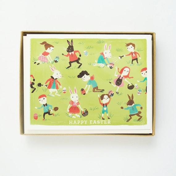 Easter Children Easter Card 10pcs