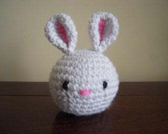 Crocheted Stuffed Amigurumi Easter Bunny Rabbit Head
