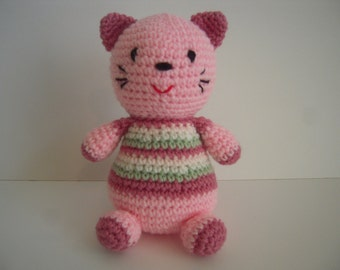 Crocheted Stuffed Agmigurumi Cat