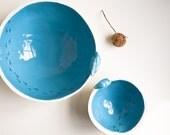 LAST BLUE BOWL/ end of collection. porcelain bowl. ceramic bowl. blue, white pottery bowl. trinket dish, ring bowl, keepsake, serving bowl