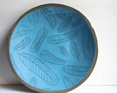 50% seconds sale, ceramic plate. blue wall hanging plate, platter. large ceramic serving dish. decorative pottery and ceramics.