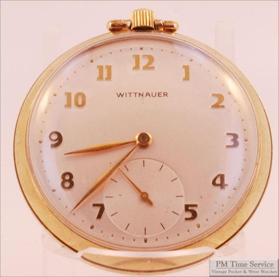 wittnauer 43mm quot 65 revue quot vintage pocket 17 jewels