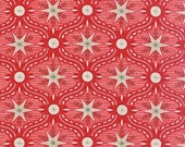 LAST ONE Fat Quarter kof 25th and Pine Peppermint Frosty Ave Red by BasicGrey  for Moda