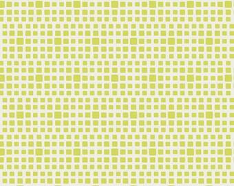 Squared Elements Lemongrass by Pat Bravo for Art Gallery Fabrics