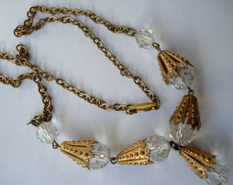 Art Deco Clear Glass  and Cornets  20's 30's