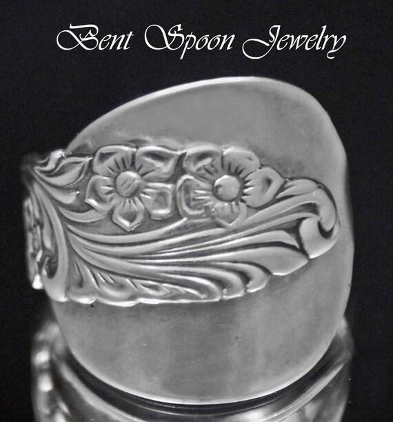 l ffel ring vintage schwedische blumig ganze l ffel ring gr. Black Bedroom Furniture Sets. Home Design Ideas