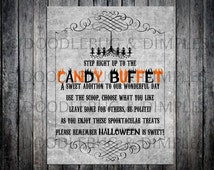 Printable Haunted Mansion Candy Buffet Sign-INSTANT DOWNLOAD