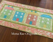 Table Topper/Wall Hanging ~ West 5th Street ~ OOAK