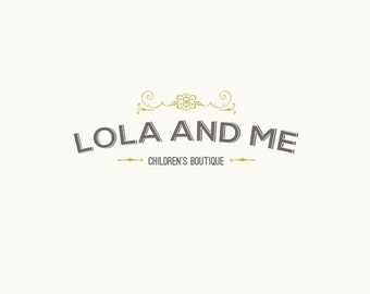 Custom Logo Design - Premade OOAK - Lola and Me