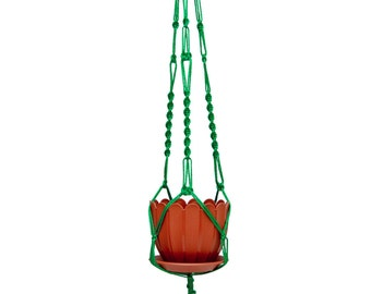 40 inches 3mm Green Strong Macrame  Plant  Hanger - Hanging Planter