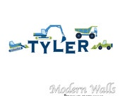 Children Vinyl Wall Decals-Truck Name Decal Nursery Stickers Decal